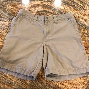 Columbia men's hiking shorts 30 tan many pockets